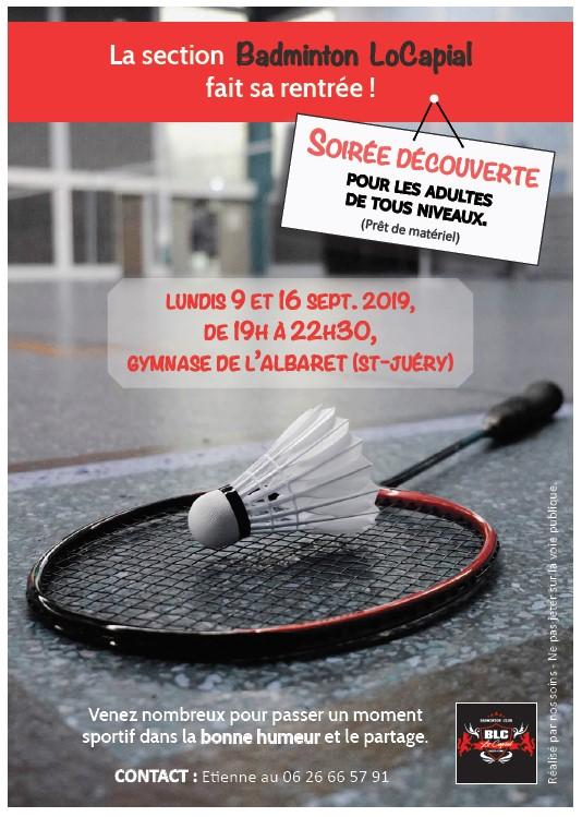 Soirée découverte badminton